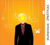 man with head lamp | Shutterstock . vector #296574161