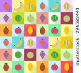 a set of vector graphic icons ... | Shutterstock .eps vector #296582441