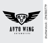 automotive wing vector logo  | Shutterstock .eps vector #296583779