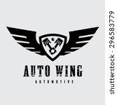 automotive wing vector logo... | Shutterstock .eps vector #296583779