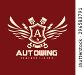 auto wing letter a modern crest ...   Shutterstock .eps vector #296583791
