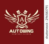 auto wing vector logo symbol | Shutterstock .eps vector #296583791