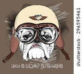 Portrait Of A Dog In Retro...
