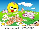good morning with flowers ... | Shutterstock .eps vector #29659684