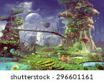 Illustration  The Panorama Of...
