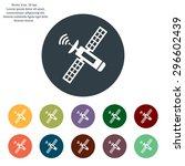 satellite sign icon  vector... | Shutterstock .eps vector #296602439