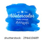 watercolor colorful round spot. ... | Shutterstock .eps vector #296610689