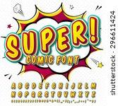 creative high detail comic font.... | Shutterstock .eps vector #296611424