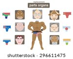 funny pictures the old man... | Shutterstock .eps vector #296611475