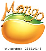 mango food label on white... | Shutterstock .eps vector #296614145