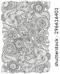 pattern for coloring book. ... | Shutterstock .eps vector #296616401