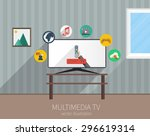 home multimedia tv  flat style...
