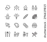 Bbq And Food Icons. Food Vecto...
