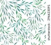 seamless vector floral pattern. ... | Shutterstock .eps vector #296623091