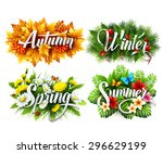 Four Seasons  Typographic...