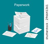paperwork illustration. stack... | Shutterstock .eps vector #296641361