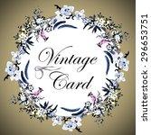 vintage watercolor greeting... | Shutterstock .eps vector #296653751
