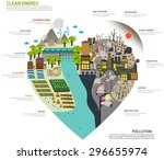 the world of separate green... | Shutterstock .eps vector #296655974
