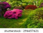 Japanese Garden With Purple...