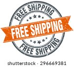 free shipping round orange... | Shutterstock .eps vector #296669381
