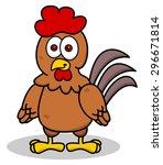 hen standing smiling | Shutterstock .eps vector #296671814