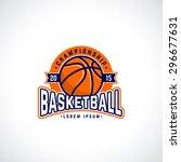 vector basketball championship... | Shutterstock .eps vector #296677631