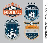 football badge logo template... | Shutterstock .eps vector #296679914