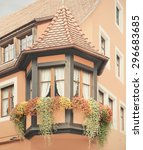 bay window on a traditional... | Shutterstock . vector #296683685