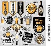 set of vector craft beer... | Shutterstock .eps vector #296690381