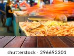 look out from the table  blur... | Shutterstock . vector #296692301