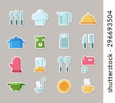 set of colorful flat icons... | Shutterstock .eps vector #296693504