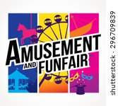 vector of amusement park and... | Shutterstock .eps vector #296709839
