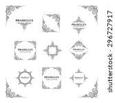 frames. decorative elements.... | Shutterstock .eps vector #296727917