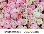 abstract background of flowers. ... | Shutterstock . vector #296729381