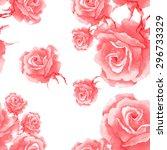 rose budget pattern | Shutterstock . vector #296733329