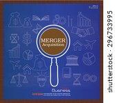 merger acquisition. merger... | Shutterstock .eps vector #296733995
