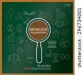 merger acquisition. merger... | Shutterstock .eps vector #296734001