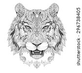 tattoo  graphics head of a... | Shutterstock . vector #296738405