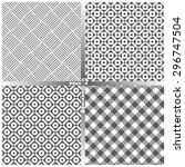 seamless pattern. set of four...   Shutterstock .eps vector #296747504