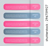 business infographics tabs... | Shutterstock .eps vector #296759927