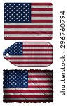 usa  american flag painted on... | Shutterstock . vector #296760794