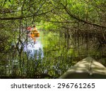kayaking in mangrove tunnels in ... | Shutterstock . vector #296761265