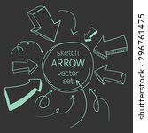 sketch arrows vector set | Shutterstock .eps vector #296761475