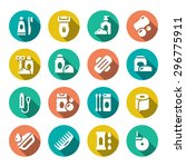 set flat icons of hygiene... | Shutterstock . vector #296775911