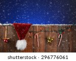 A Rustic Fence With Christmas...