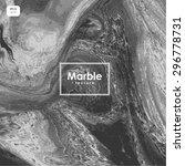 black and white marble  vector... | Shutterstock .eps vector #296778731