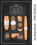 vintage bakery poster. | Shutterstock .eps vector #296782814