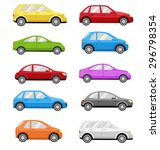 multicolored cars collection... | Shutterstock . vector #296798354