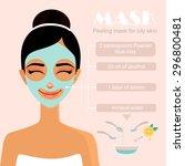 homemade facial mask. facial...   Shutterstock .eps vector #296800481