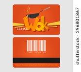 wok restaurant. template... | Shutterstock .eps vector #296801867